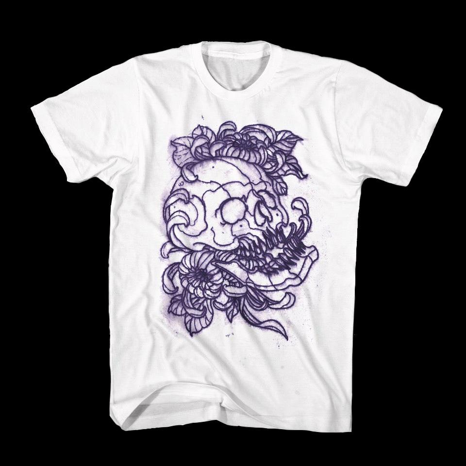 T-shirt Stencil Skull